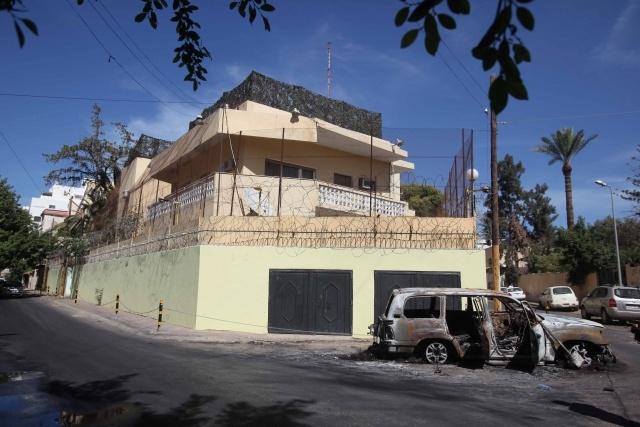нападение на российское посольство в Ливии 2 октября: Фото