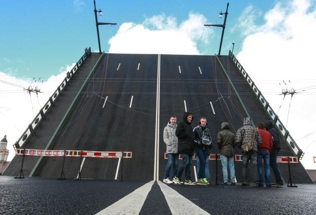 Открытие Дворцового моста 19 октября 2013 года: Фото