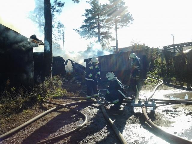 В Парголово горят частные погреба: Фото