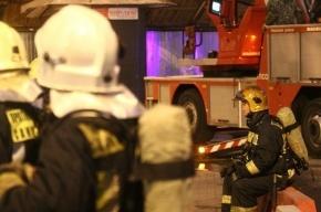 Пожар в двух ангарах в Петербурге локализовали