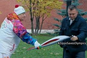 Zippo пропиарилась на гаснущих олимпийских факелах