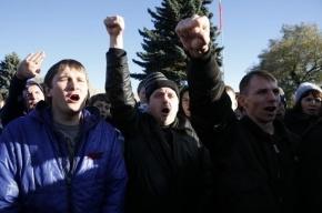 Полиция задержала 8 человек на акции националистов в Петербурге