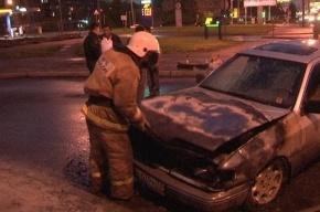 Ночью в трех районах Петербурга сгорели шесть автомобилей