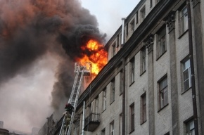 Женщина погибла в пожаре на Таврической улице в Петербурге