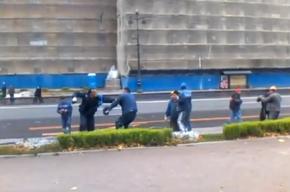 Рабочие-мигранты устроили драку у Зимнего дворца