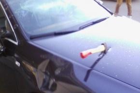 На проспекте Славы разбили машину с надписью «Прокуратура РФ»