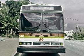 Пьяный мужчина угнал автобус и уехал на Канонерский остров