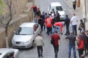 В Баку произошла стычка российских и азербайджанских болельщиков