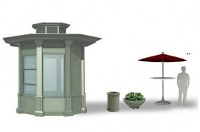 В Петербурге представлен новый дизайн торговых павильонов