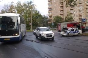 В Приморском районе в ДТП попал автобус с детьми