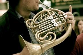На Дворцовой уличные музыканты подрались на духовых инструментах