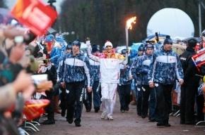 Центр Петербурга перекрыт по маршруту эстафеты Олимпийского огня
