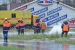 Водоканал локализовал разлив воды на Ленинском проспекте : Фоторепортаж