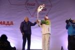 Олимпийский факелоносец из Хакасии загорелся во время эстафеты: Фоторепортаж