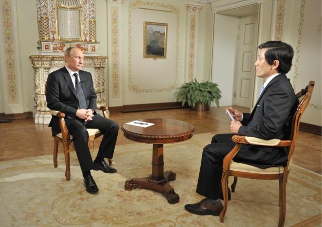 Путин дал интервью южнокорейской телерадиокомпании KBS: Фото