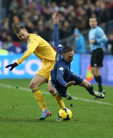 Франция – Украина 3:0 19 ноября 2013: Фото
