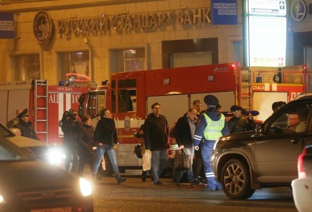 пожар в коллекторе на Тверской 15: Фото