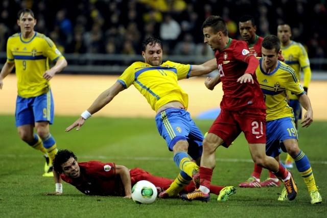 Швеция – Португалия 20 ноября 2013: Фото