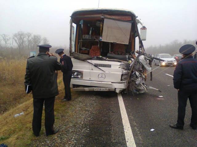 Столкновение автобусов в Ставрополье 3 ноября 2013 года: Фото