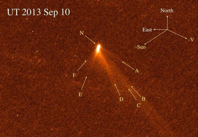 Комета с шестью хвостами