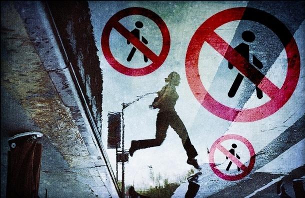«Кегельбан» на Загородном: пешеходам повесили запрещающий знак, но оставили «зебру»