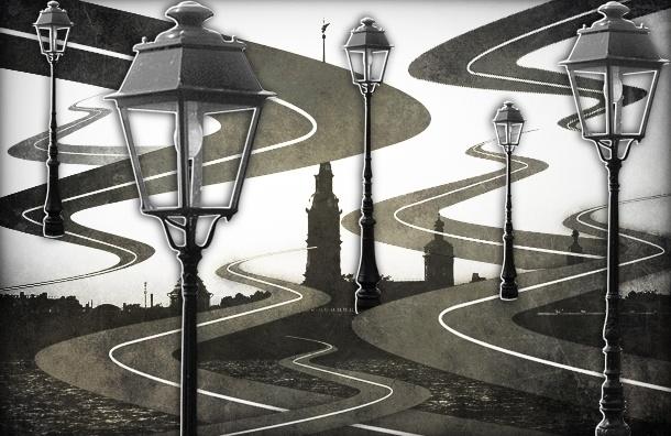 Улицы в Петербурге не освещают, потому что они считаются недостроем