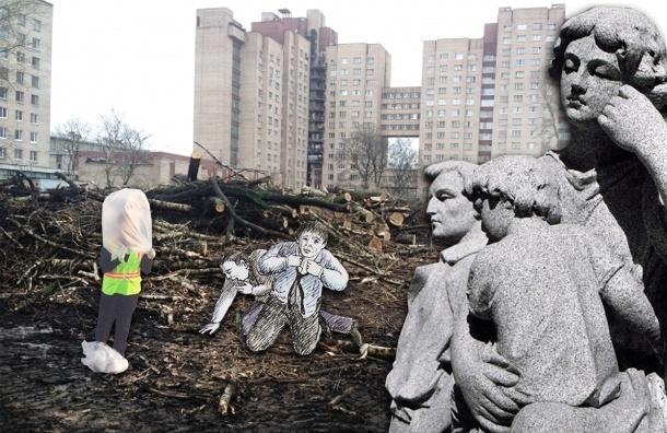 В Петербурге срубили половину рощи, чтобы построить метро