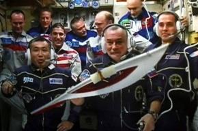 Факел Олимпиады впервые в истории побывал в открытом космосе