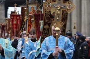 Крестный ход в Петербурге прошел без участия Полтавченко и митрополита Владимира