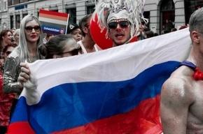В Рязани стриптизер прикрыл интимные места российским флагом