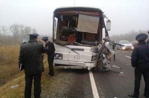 Два автобуса столкнулись на Ставрополье, погибли 4 человека