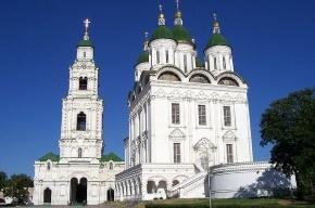 На православном храме в Астрахани оставили экстремистские надписи