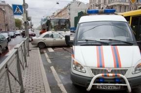 В пробке на Лиговском встали 30 автобусов
