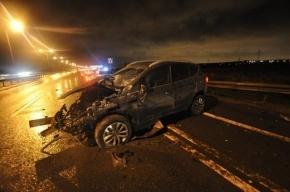 Во Всеволожском районе перевернулся автомобиль, двое погибших