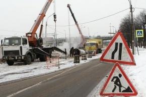 На Васильевском острове прорвало трубу отопления