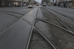 Трамвайные рельсы на Тихорецком проспекте: Фоторепортаж
