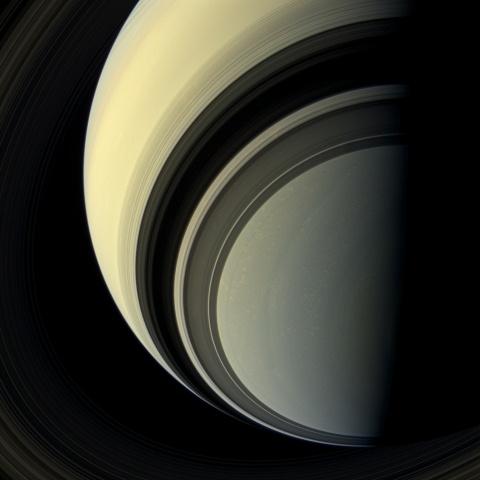Сатурн и его спутники: Фото