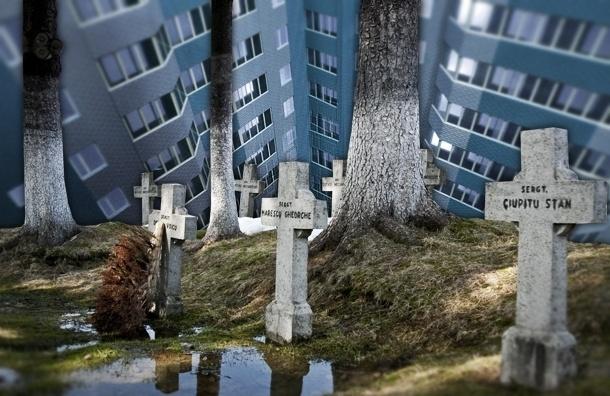 В Петербурге жилой комплекс строят на костях лютеранского кладбища
