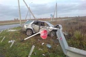 В Ленобласти автомобиль столкнулся с грузовым поездом