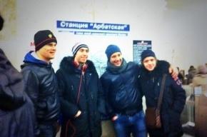 Хоккеисты СКА приехали на матч с ЦСКА на метро