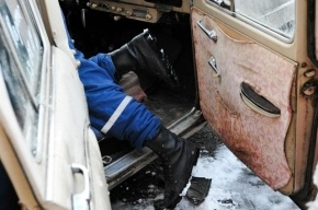 В Петергофе водитель «Оки» погиб в столкновении с автобусом