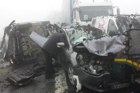 В Бельгии из-за тумана столкнулись десятки автомобилей