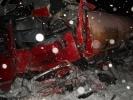 В Нижегородской области при столкновении автобуса с грузовиком погибло двое, пострадали 11 человек : Фоторепортаж