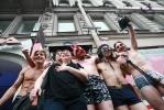 Фоторепортаж: «На Невском проспекте состоялся забег в нижнем белье»