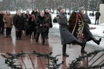 Торжественно-траурная церемония на Пискаревском мемориальном кладбище, посвященная 70-й годовщине полного освобождения Ленинграда от фашистской блокады. : Фоторепортаж