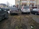 Парковка на газоне: Фоторепортаж