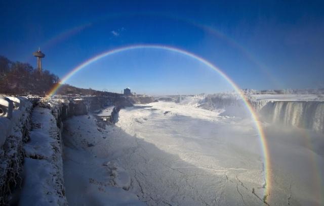 Ниагарский водопад замерз-2014: Фото