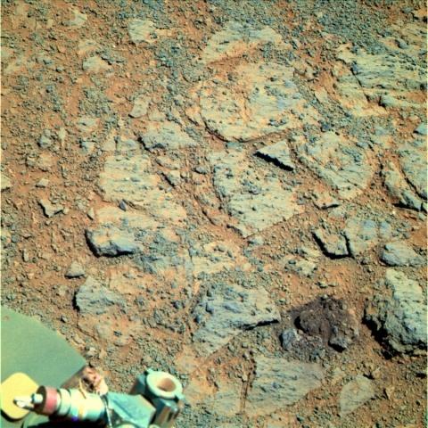 Камень на Марсе, марсоход Opportunity: Фото
