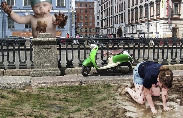 Петербург не моют зимой, даже если нет снега и грязно: не положено