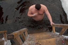 В крещенских купаниях в Петербурге приняли участие 60 тысяч человек